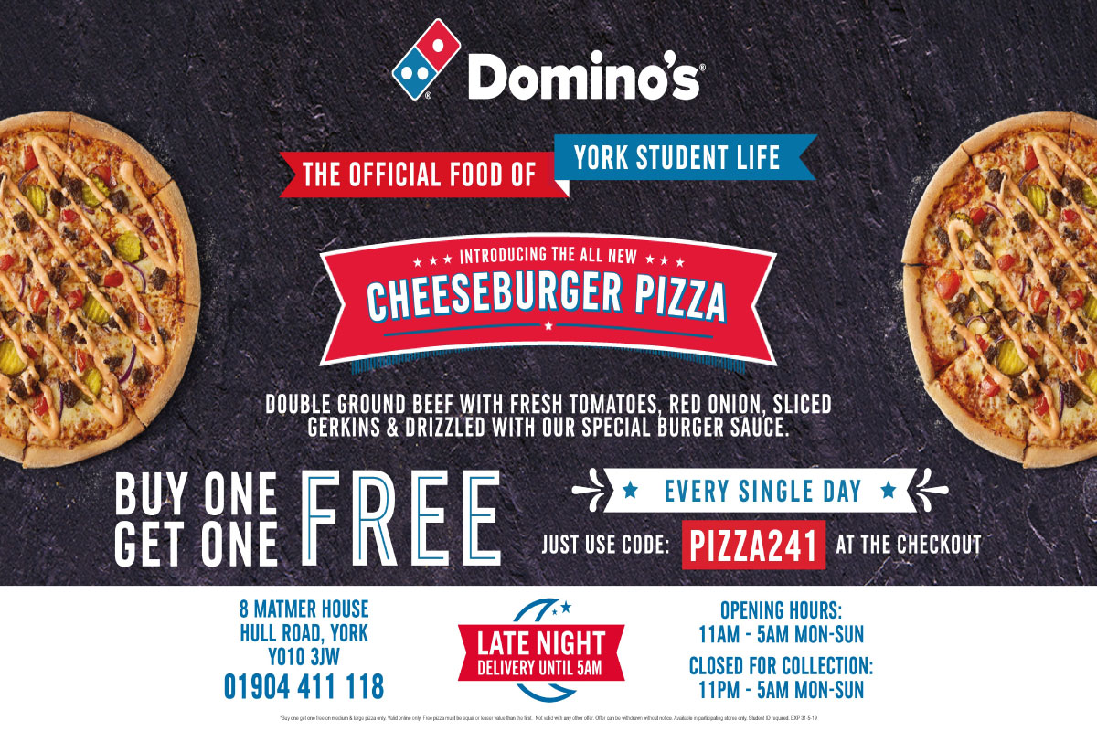 Buy One Get One Free at Dominos! Use code